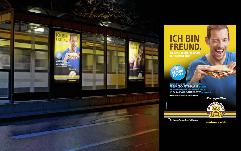Bäckerei Neff|Promotion // Citylight-Kampagne